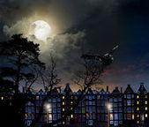 Nacht stadt amsterdam — Stockfoto