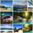 A set of photos of summer holidaym — Stock Photo #37306031