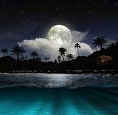 Praia à noite — Foto Stock