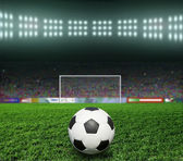 Soccer bal.football, — 图库照片