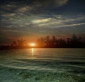 The ocean, sunset — Stock Photo