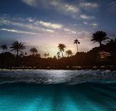 Beach at night — Stock Photo