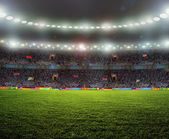 Stadium for sports and concerts empty on a sunny day — Stock Photo