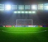 Maçtan önce stadyum. gece, ışıklı — Stok fotoğraf