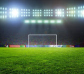 Stadium before the match. Night, illuminated — Stock Photo