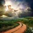 Rural road and the blue sky — Stock Photo #9245550