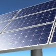Solar panel in a blue sky — Stock Photo