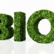 Bio word composed by grass — Stock Photo