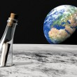 Message in a bottle from the moon — Stock Photo #31298307