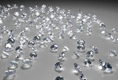 Many diamonds on the floor — Stock Photo