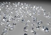 Many diamonds on the floor — Stock Photo