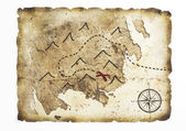 Old treasure map — Stockfoto
