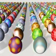Rows of Easter eggs — Stock Photo