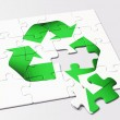 Recycling puzzle — Stock Photo