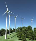 Windgeneratoren auf einem hã¼gel — Stockfoto