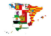 карта испании — Стоковое фото