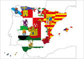 Map of Spain — Stock Photo