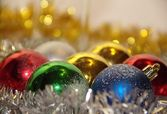Christmas and New Year toys — Stock Photo