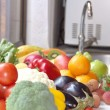 Stockfoto: Vegetables and fruits