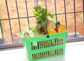 Food in a basket — Stock Photo