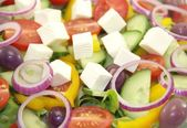Healthy vitamin salad as a background — Stock Photo