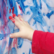 Stock Photo: Little child is painting