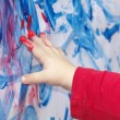 Little child is painting — Stock Photo #27279845