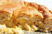 Delicious chicken pie with cheese — Stock Photo