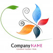 Colored Butterfly Company Logo — Stock Vector