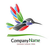 Colored Bird Company Logo — Vettoriale Stock