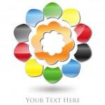 Multicolored Flower Company Logo #Vector — Stock Vector #12244456