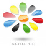 Multicolored Flower Company Logo #Vector — Stock Vector #12244472