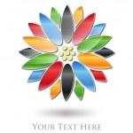 Multicolored Flower Company Logo #Vector — Stock Vector #12244488