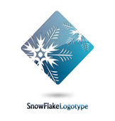 Abstract Logo Snow Flake on white background — Stock Vector