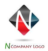Logo initial letter N # Vector — Stock Vector
