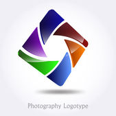 Photography company logo #vector — Stockvektor