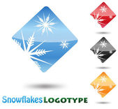 Abstract Logo Snow Flake on white background — Vector de stock