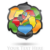 Multicolored Flower Company Logo #Vector — Stock Vector