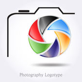 Photography company logo #vector — Stock Vector