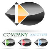 первоначальный логотип письмо и # вектор — Cтоковый вектор
