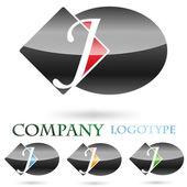 Logo initial letter J # Vector — Stock Vector