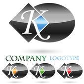 Logo initial letter K # Vector — Stock Vector