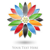 Multicolored Flower Company Logo #Vector — Stock Vector