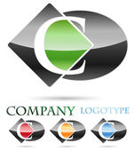Logo initial letter C # Vector — Stock Vector