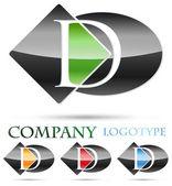 логотип буквица d # вектор — Cтоковый вектор