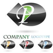 Logo initial letter P # Vector — Stock Vector