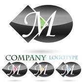 Logo initial letter M # Vector — Stock Vector