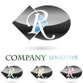 Logo initial letter R # Vector — Stock Vector