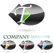 Logo initial letter T # Vector — Stock Vector