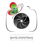 Photography company logo #vector — Cтоковый вектор